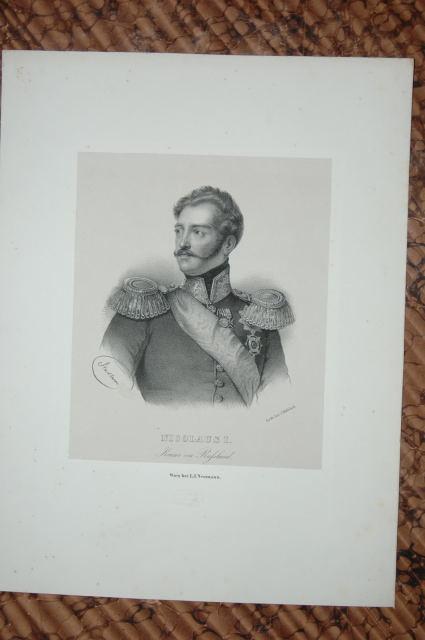 Porträt. Brustfigur von vorn, Kopf nach halbrechts.: Nikolaus I, Pawlowitsch