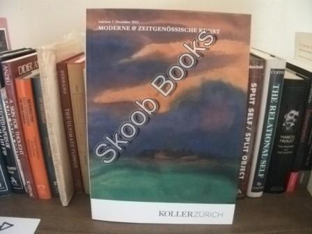 Moderne & Zeitgenossische Kunst: Auktion: 7. Dezember: Koller Zurich
