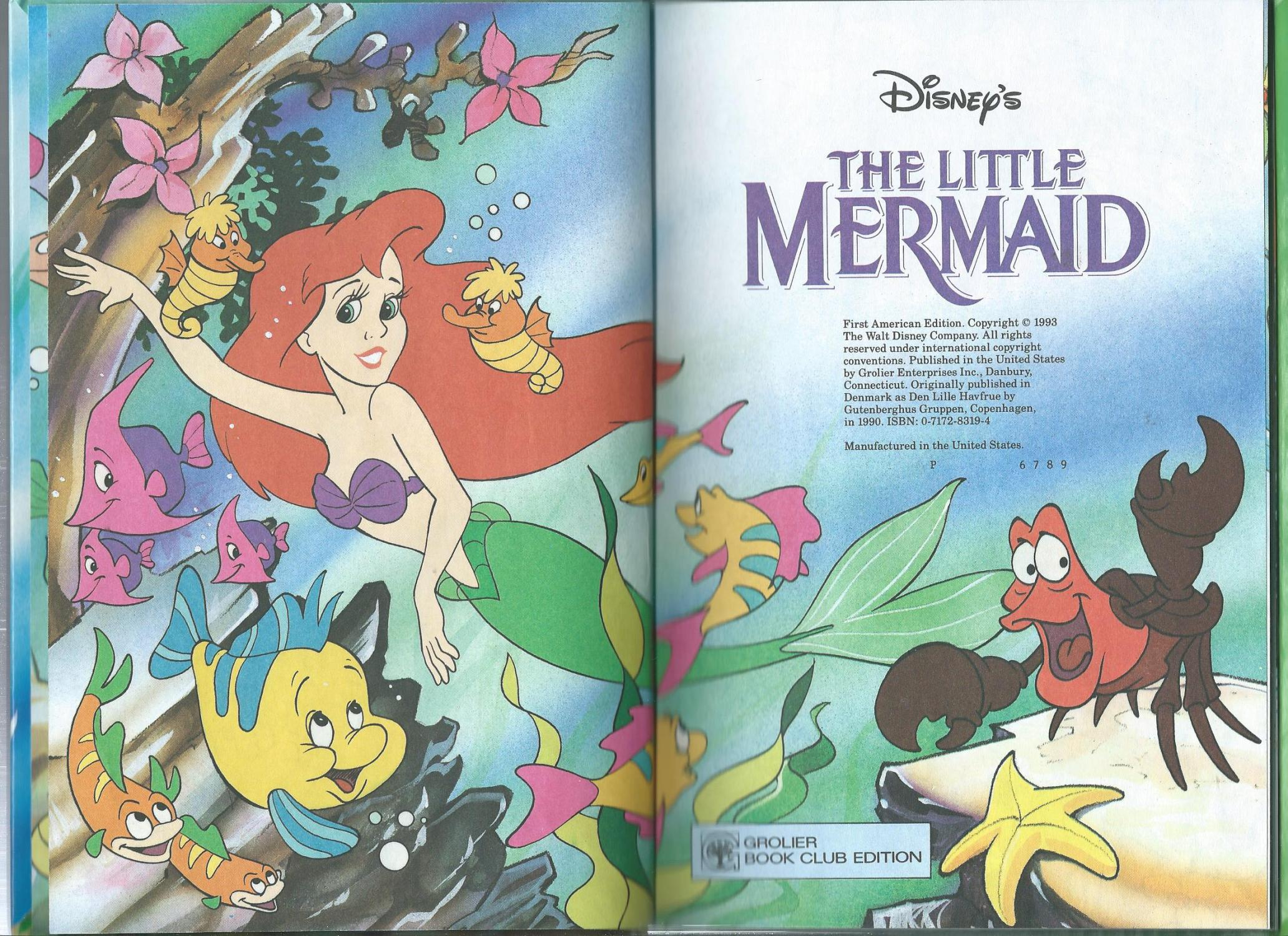 The Little Mermaid By Walt Disney Very Good Hardcover 1993 1st Edition Odds Ends Books