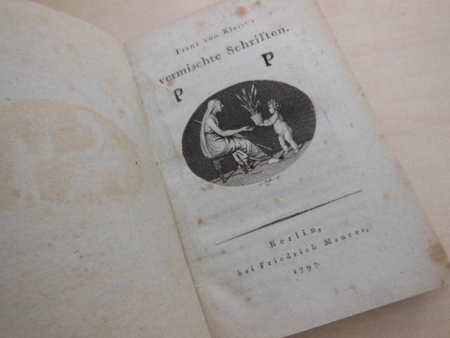 Franz von Kleist's vermischte Schriften.: Kultur. - Kleist,