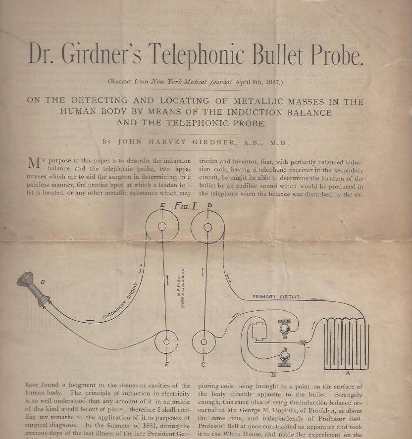 Dr. Girdner's Telephonic Bullet Probe: Girdner, John Harvey,