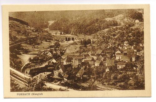 Postkarte: Forbach (Murgtal) - Gesamtansicht: Forbach