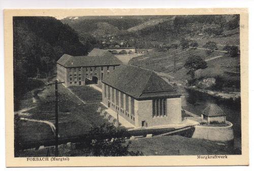 Postkarte: Forbach (Murgtal). Murgkraftwerk: Forbach