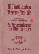 Münchenhausen Beeren-Auslese. Eine Auswahl aus dem Gesamtwerk: Münchhausen, Freiherr Börries