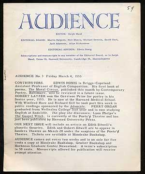 Audience Number 3-6 1955 Four Volumes: MAUD, Ralph edited