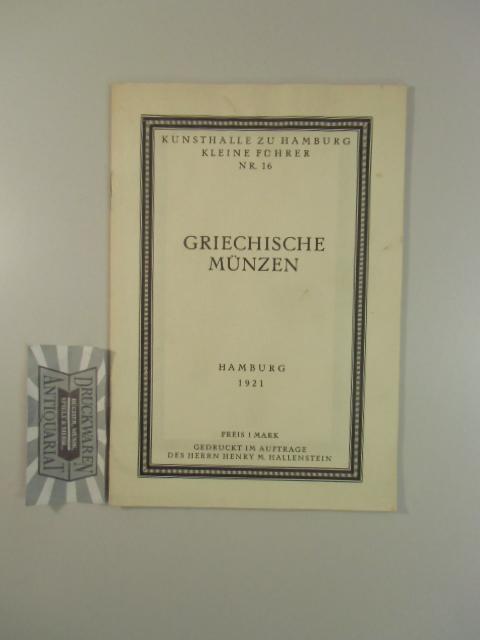 Kunsthalle zu Hamburg, Kleine führer, Nr. 16: Börger, Hans:
