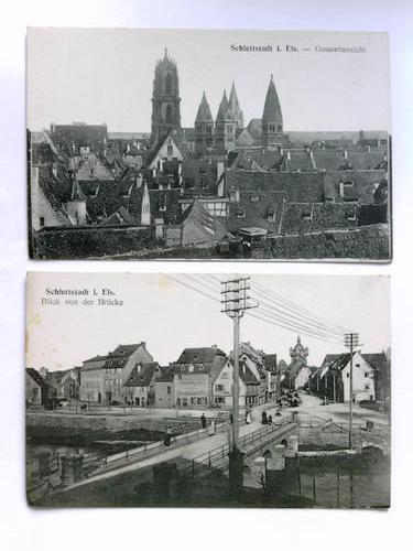 2 Postkarten: Schlettstadt (Elsass)