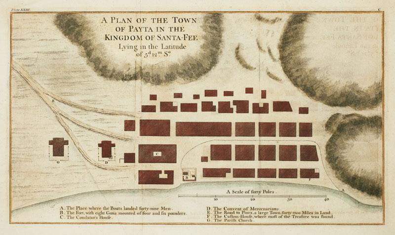 A Plan of the Town of Payta: ANSON, George.