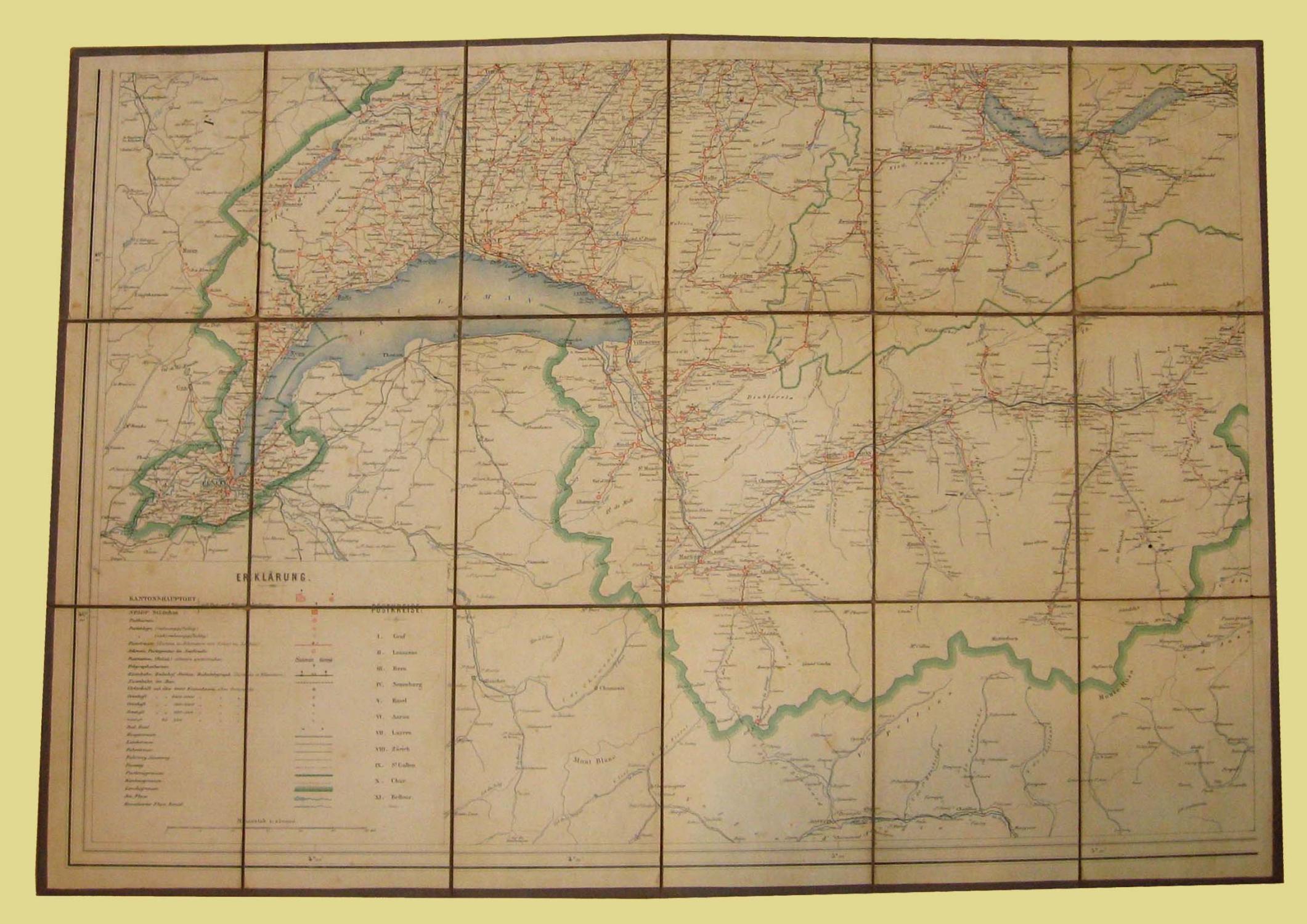 La Cartina Geografica Della Svizzera.Carta Geografica Della Svizzera Edizione Tedesca Da N D 1900 Mappa Studio Bibliografico Imprimatur