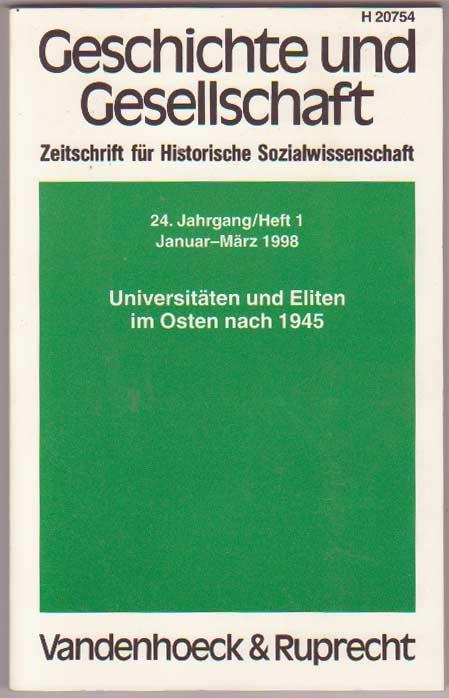 Geschichte und Gesellschaft 24. Jg, H 1: Kocka, Jürgen, Hg.