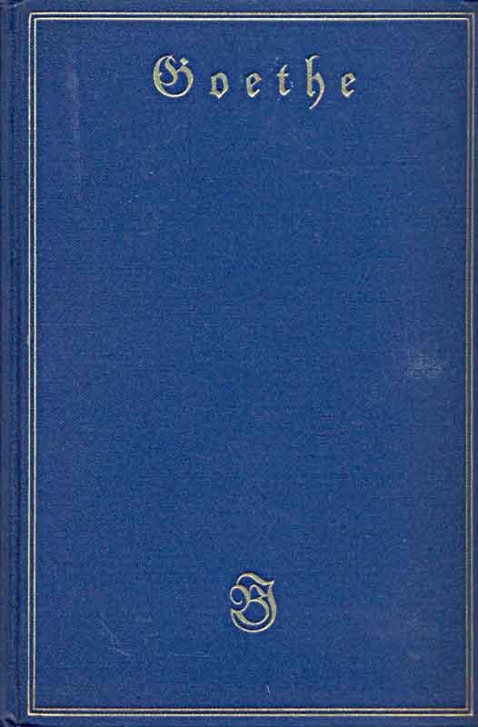 Goethes Werke - Band 1,2,3,4,5,6,8,9 - Aus: Petsch, Robert (Hrsg.):