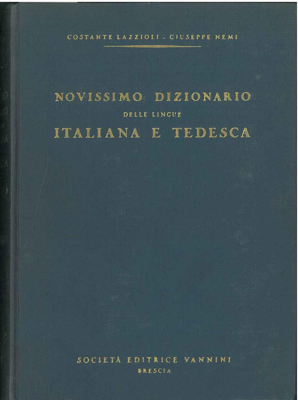 Nuovissimo dizionario delle lingue italiana e tedesca: Lazzioli Costante, Nemi