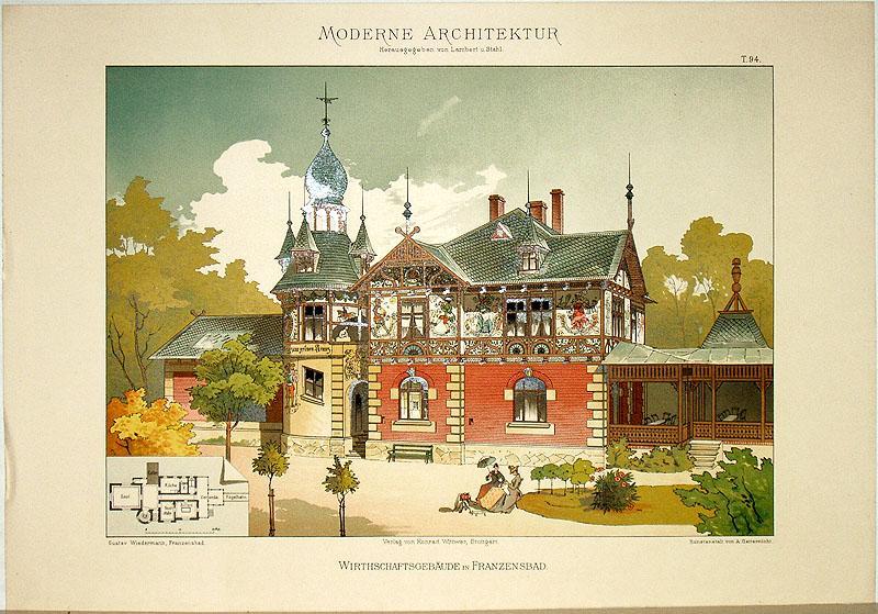 Wirthschaftsgebäude in Franzensbad. [Ausgeführt von Gustav Wiedermann,: Lambert, André; Stahl,