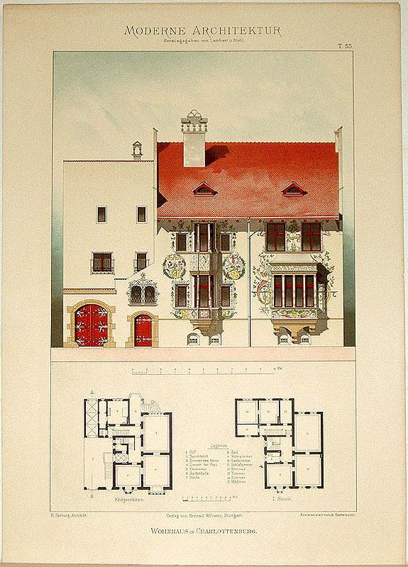 Wohnhaus in Charlottenburg. [Ausgeführt von H. Hartung,: Lambert, André; Stahl,