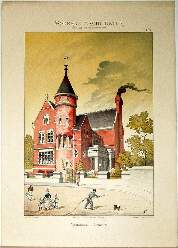 Wohnhaus in London. [Ausgeführt von Burges, Architekt].: Lambert, André; Stahl,