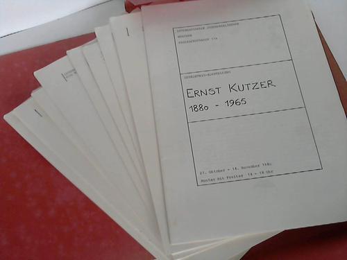 Gedächtnis-Ausstellung Ernst Kutzer 1880-1965: Internationale Jugendbibliothek /