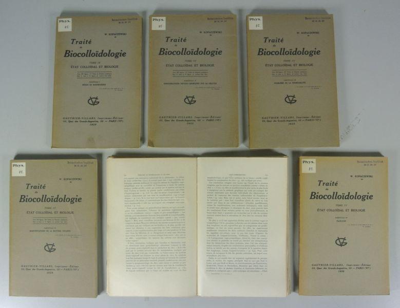 TRAITE DE BIOCOLLOIDOLOGIE, Tome IV: ETAT COLLOIDAL: Kopaczewski, Wladislas: