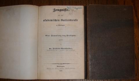 Zeugnisse aus dem akademischen Gottesdienste zu Göttingen.: Ehrenfeuchter, Friedrich,