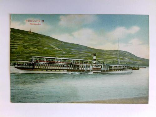 Postkarte: Rüdesheim - Rheinpartie: Rüdesheim