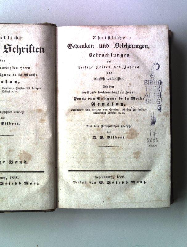 Christliche Gedanken und Belehrungen, Betrachtungen auf heilige: Fenelon, Franz von
