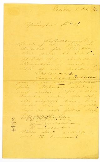 ALS - Eigenhändiger Brief mit Unterschrift.: Richter, Hermann Eberhard