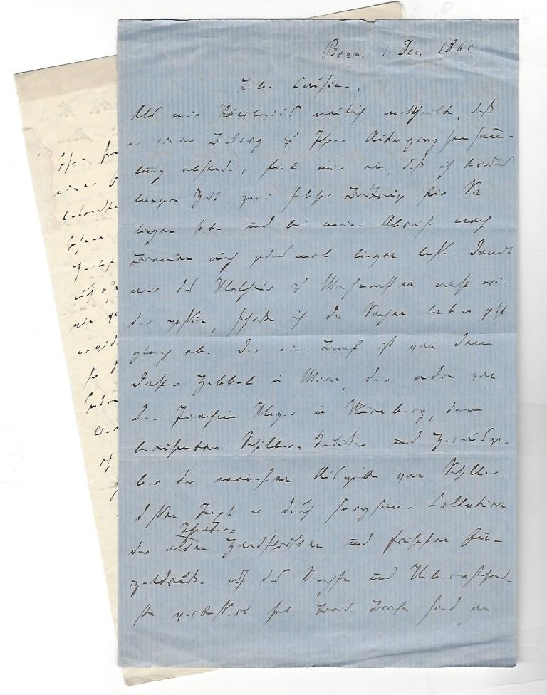 "2 eigenh. Briefe mit U. ( N. Delius"": Delius, Nikolaus, Anglist,"