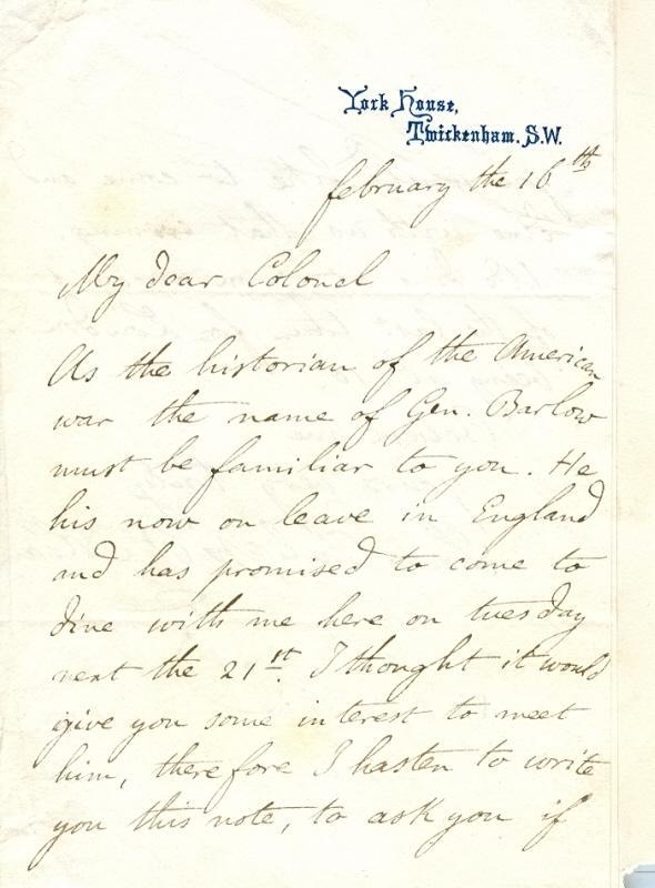 """Eigenh. Brief mit U. ( Louis Philippe d Orleans"""").: Louis Philippe Albert"""