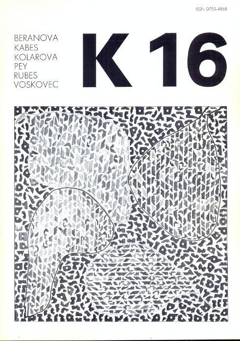 Revue K 16. Revue trimestrielle - Septembre: Kolar, Jiri
