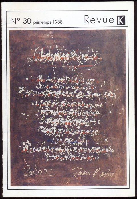 Revue K N° 30. Printemps 1988: Kolar, Jiri