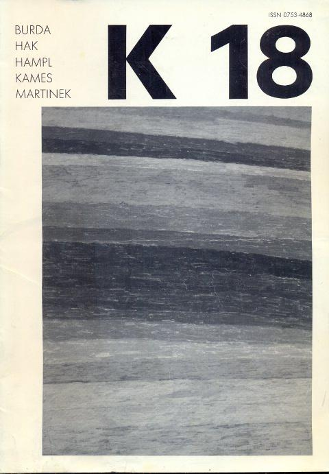 Revue K 18. Revue trimestrielle - Mars: Kolar, Jiri