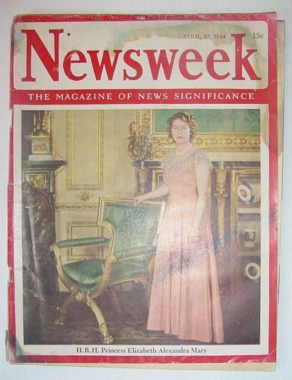 Newsweek Magazine, April 17, 1944 *COVER PHOTO: Contributors, Multiple