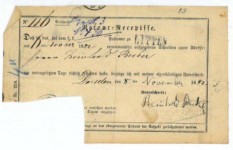 Schriftstück mit eigenh. U.: Becker, Reinhold, Komponist