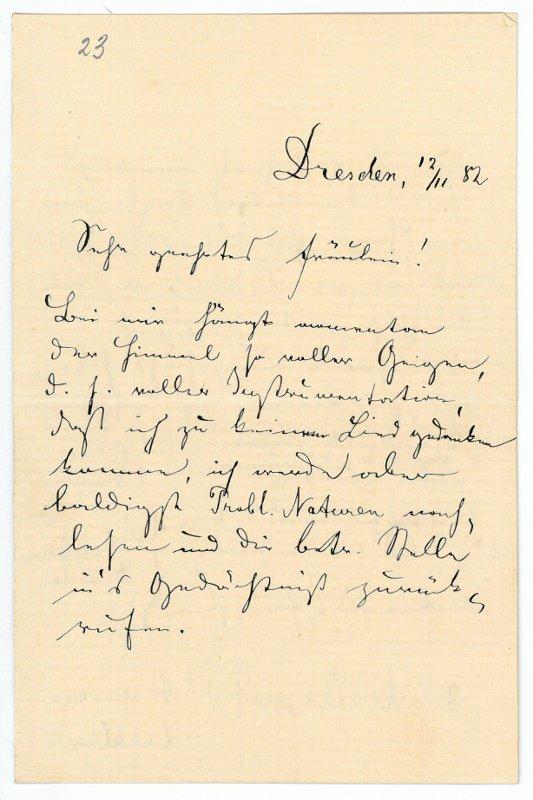 Eigenh. Brief mit U.: Becker, Reinhold, Komponist