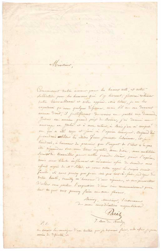 Letter Signed: PARIS, Comte de