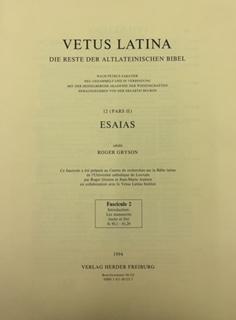 Vetus Latina 12. Die Reste der altlateinischen: Erzabtei Beuron unter