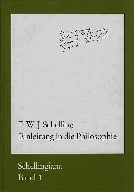 Einleitung in die Philosophie: F W J