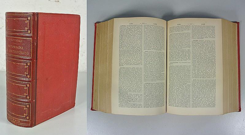 Dictionnaire universel des Contemporains. + Supplement. Contenant: Vapereau, G.: