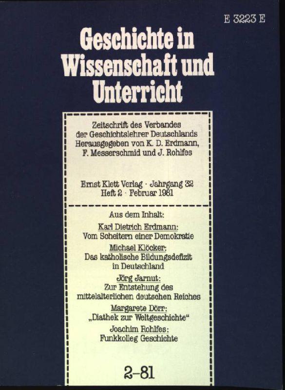 Vom Scheitern einer Demokratie aus: Geschichte in: Erdmann, Karl Dietrich: