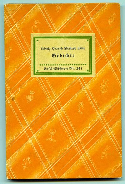 Gedichte.: Hölty, Ludwig Heinrich