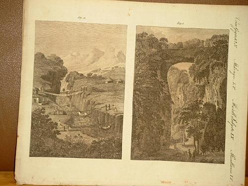 Merkwürdige Brücken: Felsenbrücke in Virginia - Hänge-: Bertuch, Friedrich J.
