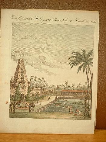 Hinduische Merkwürdigkeiten. Altkolorierter Kupferstich aus dem Bilderbuch: Bertuch, Friedrich J.