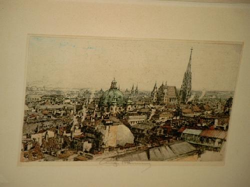Wien: Blick über die Dächer auf den: Kasimir, Luigi (