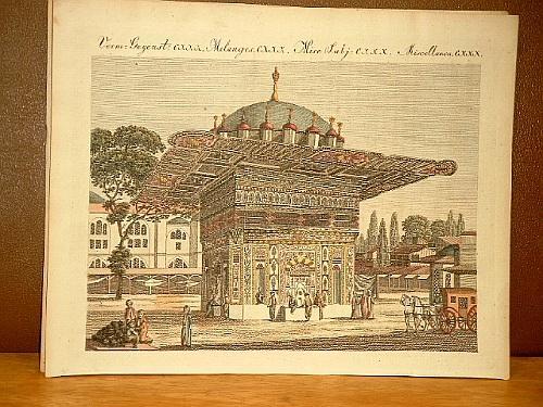 Der Brunnen Top-Hané zu Constantinopel. Altkolorierter Kupferstich: Bertuch, Friedrich J.