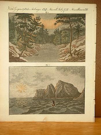 Nordische Naturerscheinungen ( Nordlicht - Mitternachtssonne ).: Bertuch, Friedrich J.