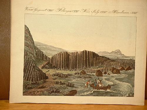 Der Riesendamm in Irland. Altkolorierter Kupferstich aus: Bertuch, Friedrich J.