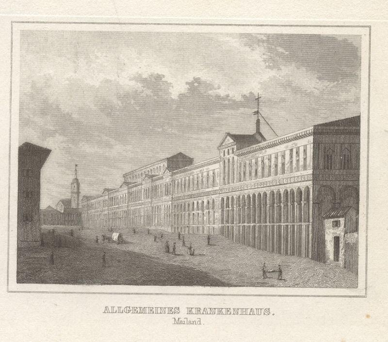 Allgemeines Krankenhaus. Mailand.: Milano - Mailand