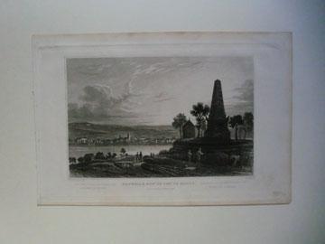 Gesamtansicht über den Rhein mit Hoche-Denkmal: NEUWIED,