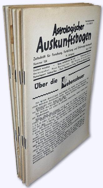 Astrologischer Auskunftsbogen. 14. Jhg. 1964, Nr. 154: Baumgartner, Hans (Hrsg.):