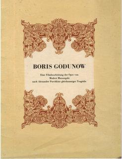 Boris Godunow. Eine Filmbearbeitung der Oper von: Puschkin):