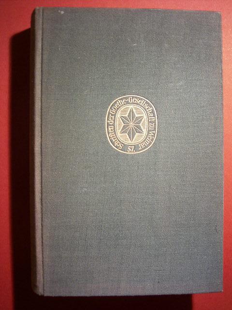 Goethes Preisaufgaben für Bildende Künstler. 1799 -: Scheidig, Walther.